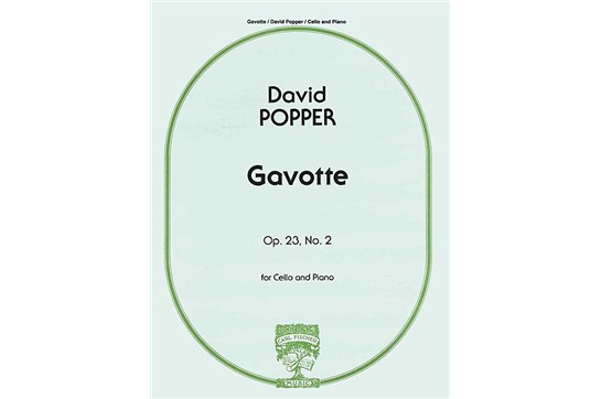 Gavotte, Op. 23, No. 2 For Cello