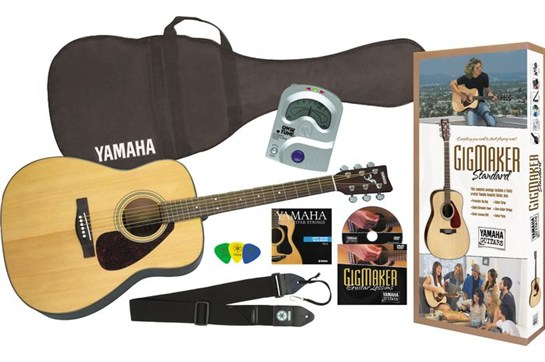 Yamaha Gigmaker Acoustic Guitar Starter Pack (Natural)