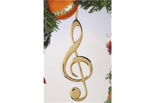 Broadway Gifts Gold Treble Clef Ornament