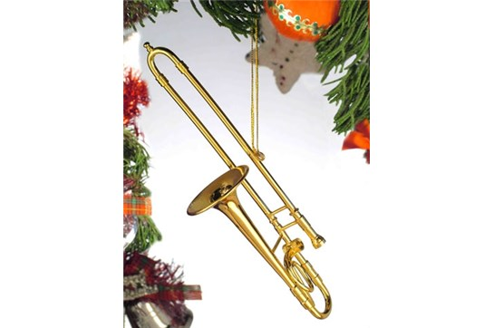 Broadway Gifts Gold Trombone Ornament