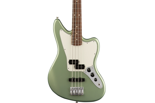 Fender Player Jaguar PF Bass Guitar (Sage Green Metallic)