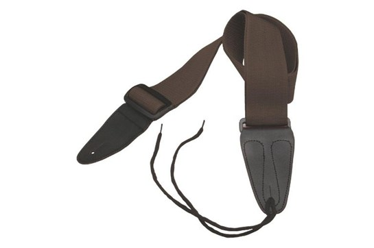 On-Stage Poly Guitar Strap (Brown)