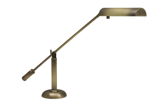 House of Troy Halogen Piano Lamp (Antique Brass)