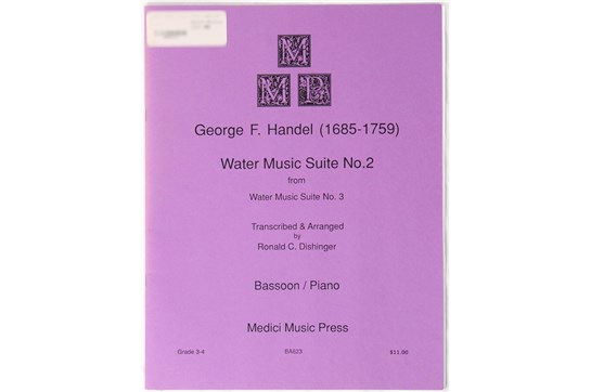 Water Music Suite No 2 by Handel, for bassoon and piano
