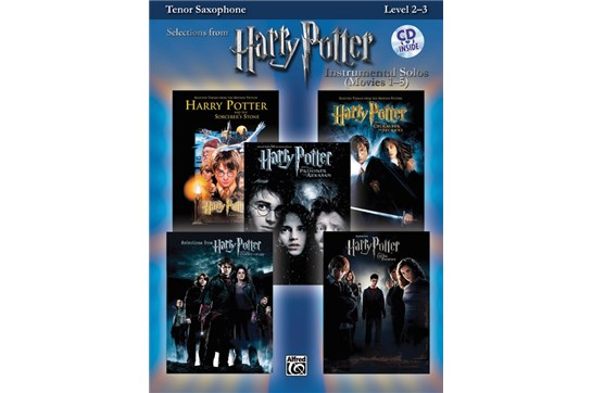 Harry Potter Instrumental Solos (Movies 1-5) for Tenor Saxophone w/CD