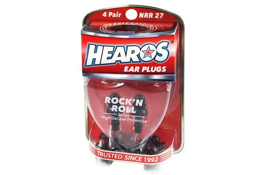 Hearos Rock'n'Roll Ear Plugs w/case