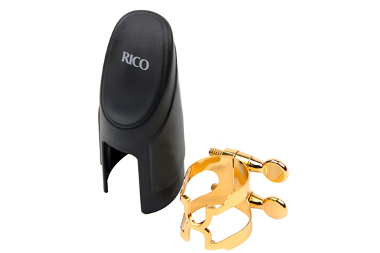 Rico Clarinet Gold H-Ligature and Cap