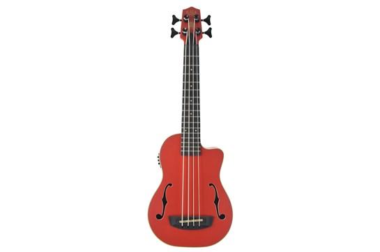 Kala Journeyman Satin Mahogany Acoustic Electric U-Bass (Red w/Bag)