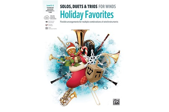 Solos, Duets & Trios for Winds: Holiday Favorites - Trombone, Baritone B.C., Bassoon, Tuba