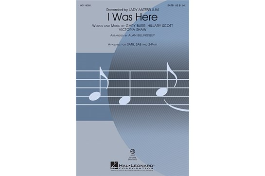 I Was Here - SATB