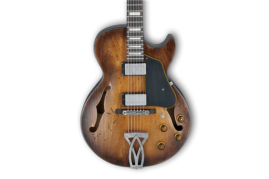 Ibanez Artcore Vintage AGV10A Semi Hollow Electric Guitar (Tobacco Burst)