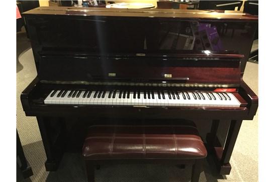 Used Hyundai U832 Acoustic Upright Piano in Polished Mahogany
