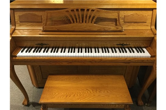 Used Young Chang GF110 Acoustic Console Piano in Satin Oak
