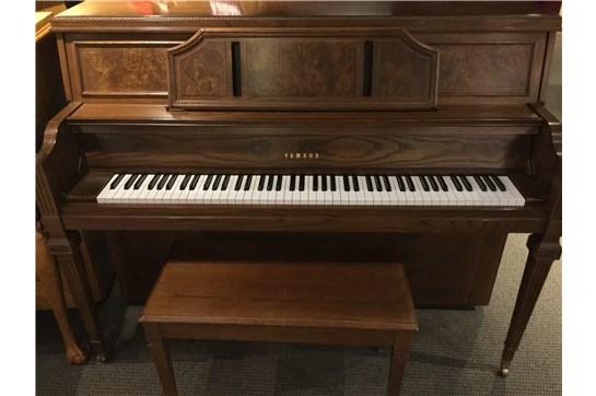 Lovely Used Yamaha P600 Acoustic Upright Piano in Satin Walnut