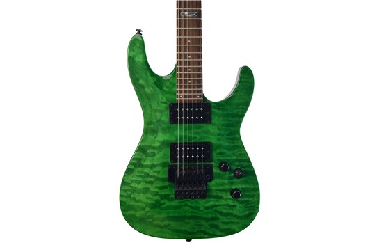 Used ESP / LTD MH100QM Electric Guitar with Hard Case (Green)
