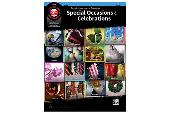 Easy Instrumental Solos for Special Occasions & Celebrations (Viola)