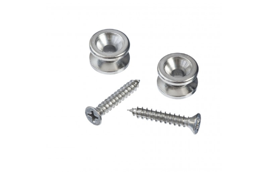 Planet Waves Solid Brass End Pins - Chrome (Pair)