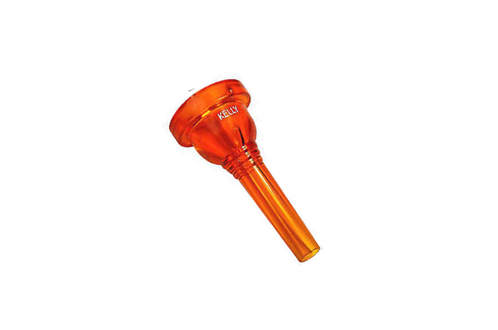 Kelly Plastic Mouthpiece, Tuba  (Crystal Orange)