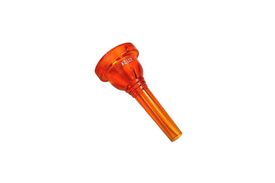 Kelly Plastic Mouthpiece, Trombone 12C (Crystal Orange)