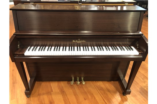 Used 2015 Knabe Walnut WMV-245 Studio Upright Piano