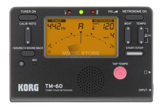 Korg Tuner Metronome (TM-60)