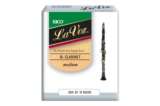 La Voz Clarinet Reeds Strength Medium (Box of 10)
