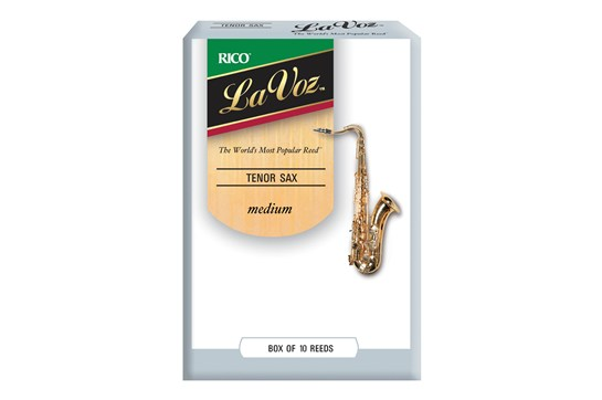 La Voz Tenor Saxophone Reeds Strength Medium (Box of 10)