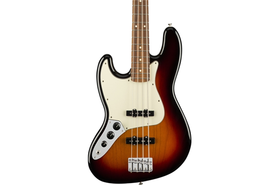 Fender Player Jazz Left-Handed PF Bass Guitar (3-Color Sunburst)