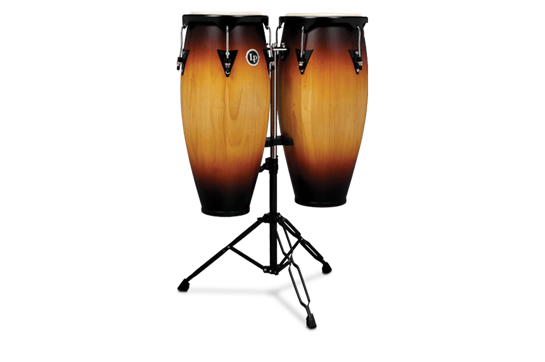 Latin Percussion City Series Congas w/Stand - Vintage Sunburst