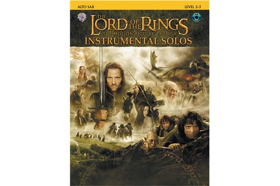 The Lord of the Rings Instrumental Solos Book and CD (Alto Sax)