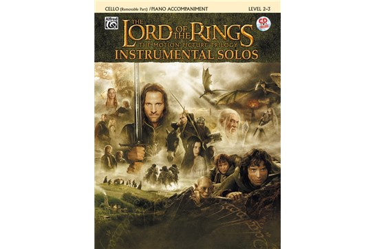 The Lord of the Rings Instrumental Solos for Strings (Cello Book with Piano Acc)