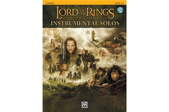The Lord of the Rings Instrumental Solos Book and CD (Clarinet)