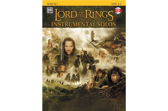 The Lord of the Rings Instrumental Solos Book and CD (Horn)