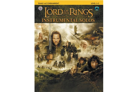 The Lord of the Rings Instrumental Solos Book and CD (Piano Acc.)