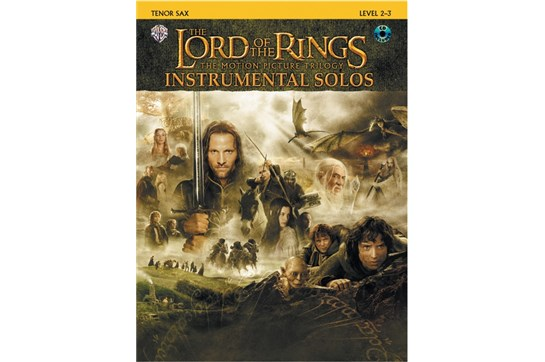 The Lord of the Rings Instrumental Solos Book and CD (Tenor Sax)
