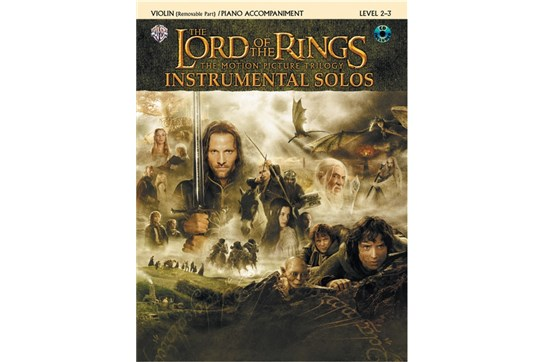 The Lord of the Rings Instrumental Solos for Strings (Violin Book with Piano Acc)