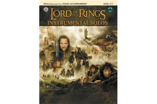 The Lord of the Rings Instrumental Solos for Strings (Viola Book with Piano Acc)