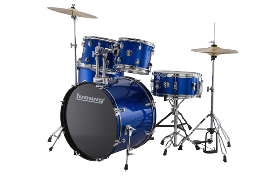 Ludwig Accent Fuse 5-Piece Drum Set (Blue Foil)