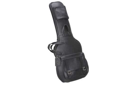 Levy's LM18-BLK Leather Electric Guitar Gig Bag (Black)