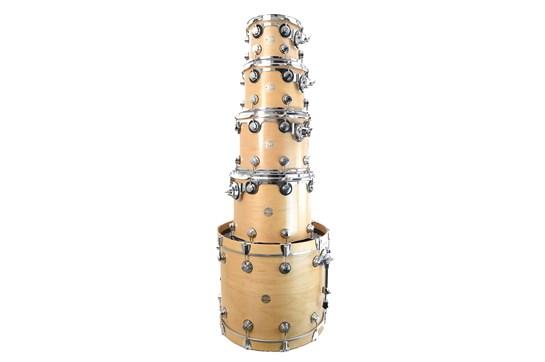 Used 2003 DW Collectors Badge Satin Maple Drum Set - 5 piece (no snare)
