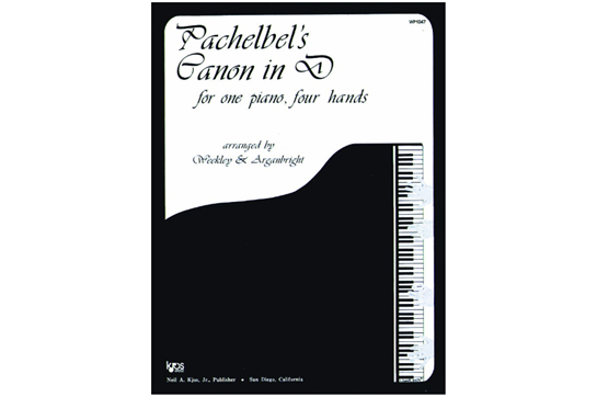 Pachelbel's Canon In D - Piano Duet (7112A8)