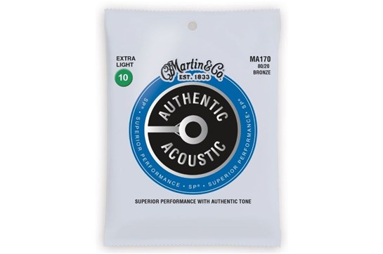 Martin Authentic Acoustic  Extra Light Guitar Strings