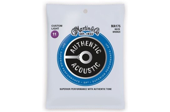 Martin Authentic Acoustic  Custom Light Guitar Strings