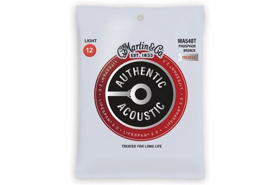 Martin Authentic Acoustic Lifespan Light Phosphor Bronze Guitar Strings