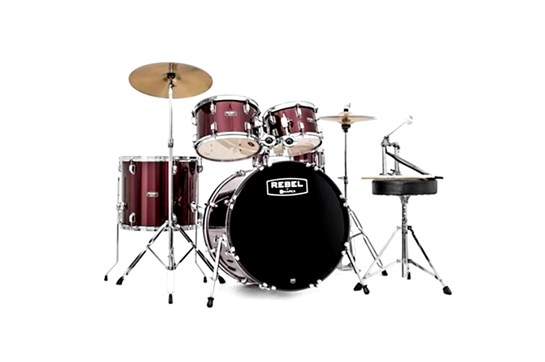 Mapex Rebel Complete 5-Piece Drum Set (Burgundy)