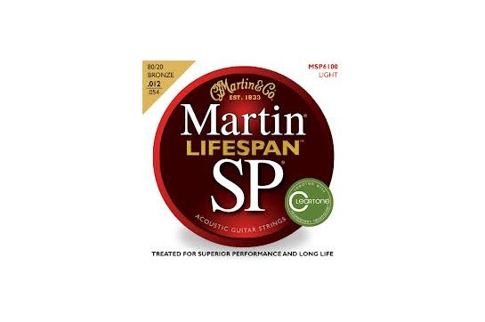 Martin MSP6100 SP Lifespan 80/20 Light Bronze Acoustic Guitar Strings