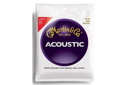 Martin M140 Traditional 80/20 Bronze Light Acoustic Guitar Strings