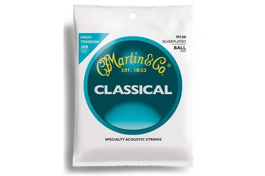 Martin M160 Silver Plated Classical Guitar Strings