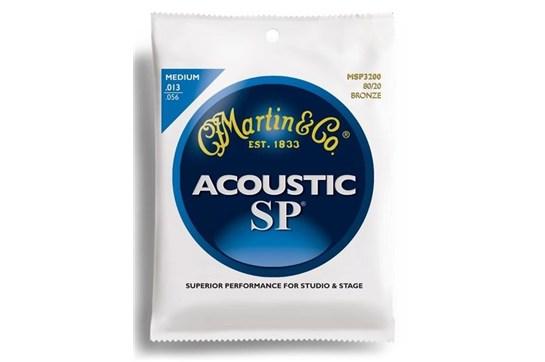 Martin MSP3200 80/20 Bronze Medium Acoustic Guitar Strings