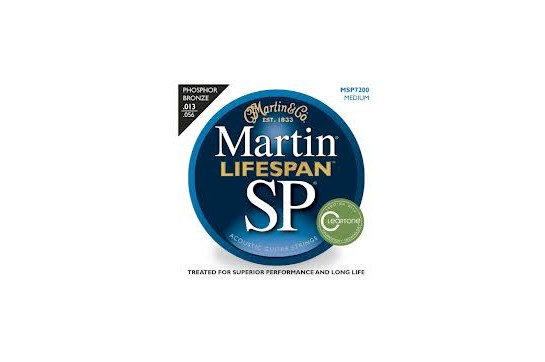 Martin MSP7200 SP Lifespan Phosphor Bronze Medium Acoustic Guitar Strings